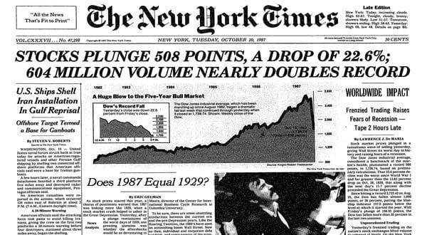 "Revisiting ""Black Monday – 1987"" – Oct. 19, Part 1"
