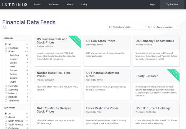 IEX API Replacement – Intrinio