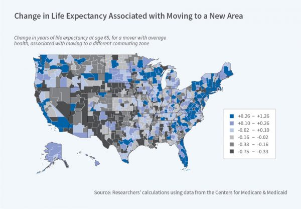 Where you live may affect how many years you have left